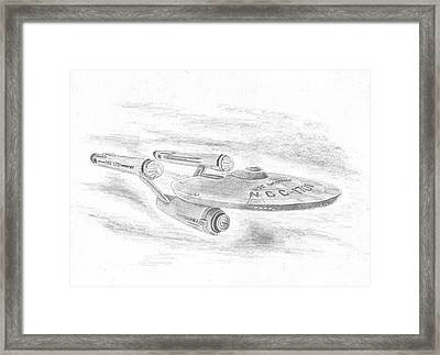 Ncc-1701 Enterprise Framed Print by Michael Penny