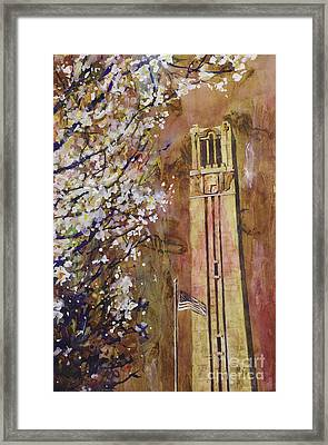 Ncsu Bell Tower Framed Print by Ryan Fox