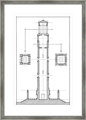 Framed Print featuring the drawing Ncsu Memorial Bell Tower by Calvin Durham