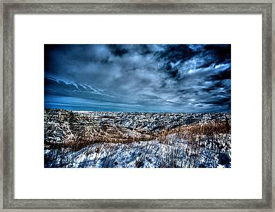 Nd Bad Lands Framed Print