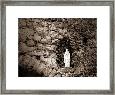 Nd Grotto Virgin Mary Framed Print