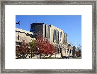Nd Stadium Framed Print by Michael Cressy