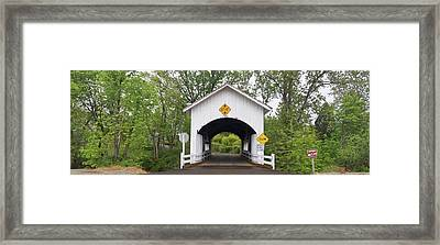 Neal Lane Covered Bridge, Jacksonville Framed Print by William Sutton