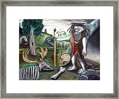 Framed Print featuring the painting Neander Valley by Ryan Demaree