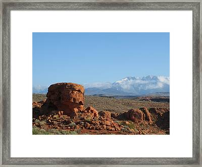 Near And Far Framed Print by Jean Marie Maggi