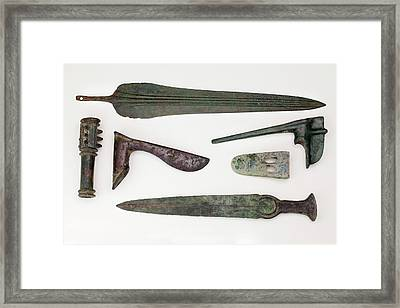 Near East Bronze Age Weapons Framed Print by Paul D Stewart