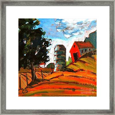 Near Flint Ridge Ohio At Brownsville Framed Print by Charlie Spear