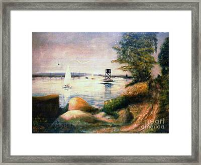 Near Greenwich Framed Print