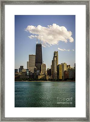 Near North Side In Chicago Framed Print by Paul Velgos