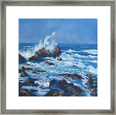 Near Pt. Joe Framed Print by Vanessa Hadady BFA MA
