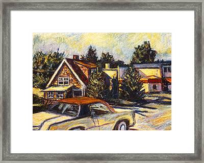 Near Reeds Framed Print