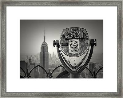 Near Sighted Helper Framed Print