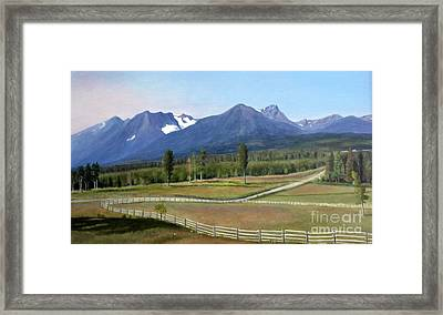 Near Smithers Bc Framed Print