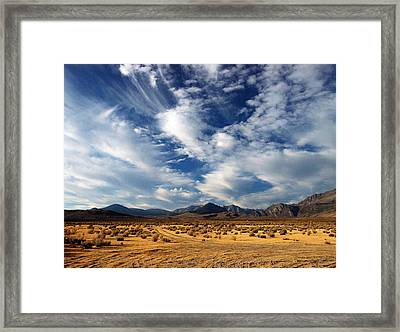 Near The Intersection Of God And The Eastern Sierras Framed Print by Joe Schofield