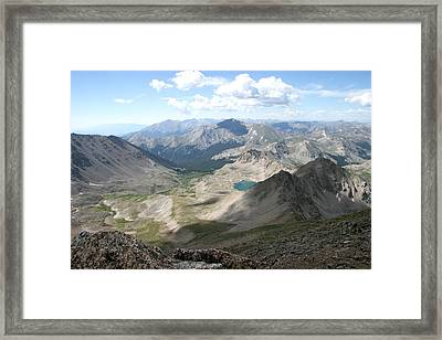 Near The Top Of Mt Harvard Framed Print by Chris Wells