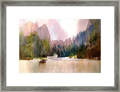 Near Yosemite Framed Print by Larry Hamilton