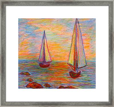 Nearing The Shoals Framed Print by Kendall Kessler