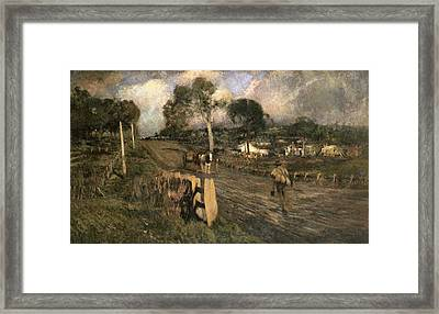 Nearing The Township Framed Print