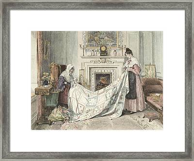 Nearly Done, Published 1898 Framed Print by Walter Dendy Sadler