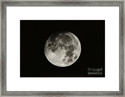 Nearly Full Moon Framed Print