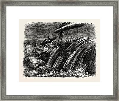 Nearly Overboard, Vessel, Maritime Framed Print