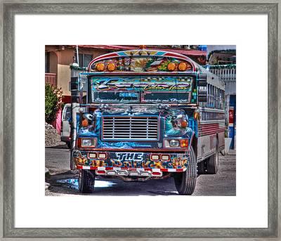 Neat Panamanian Graffiti Bus  Framed Print