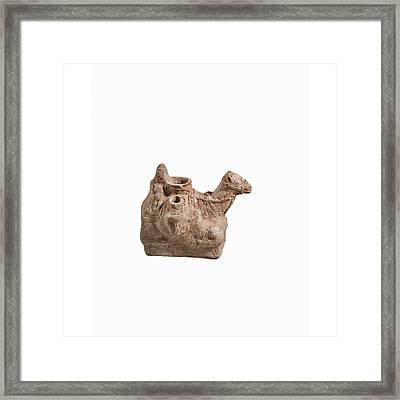 Nebatean Terracotta Vessel Framed Print by Science Photo Library