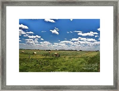 Nebraska Hay Baling Framed Print