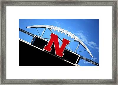Nebraska Husker Memorial Stadium Framed Print