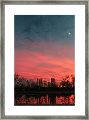 Framed Print featuring the photograph Nebraska Night by Alicia Knust