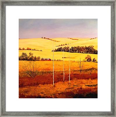 Framed Print featuring the painting Nebraska Plains by William Renzulli
