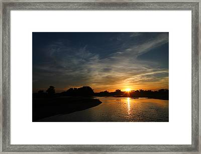 Nebraska River Framed Print