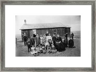 Nebraska Schoolhouse Framed Print
