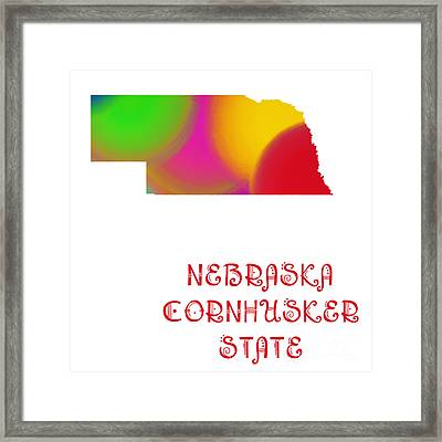 Nebraska State Map Collection 2 Framed Print