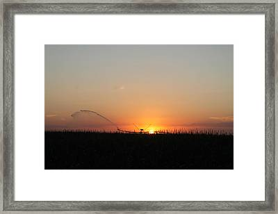 Framed Print featuring the photograph Nebraska Sunset by Alicia Knust