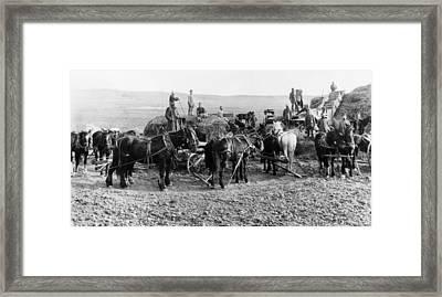 Nebraska Threshing, 1886 Framed Print by Granger