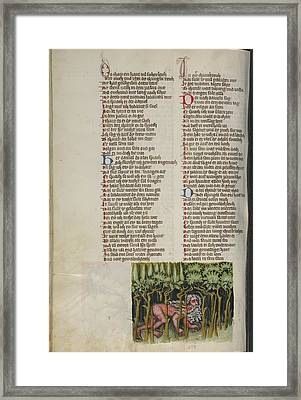 Nebuchadnezzar As A Wild Animal Unknown Regensburg, Bavaria Framed Print by Litz Collection