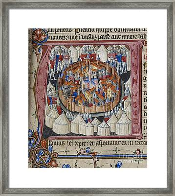 Nebuchadnezzar Besieges Jerusalem Framed Print by British Library