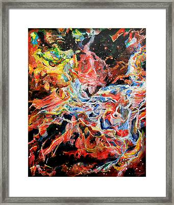 Nebula Framed Print by Art by Kar