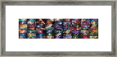 Nebula Collage  Framed Print by Taylan Apukovska