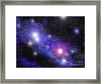 Nebula Digital Painting Framed Print