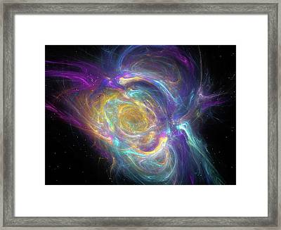 Nebula Framed Print by Equinox Graphics