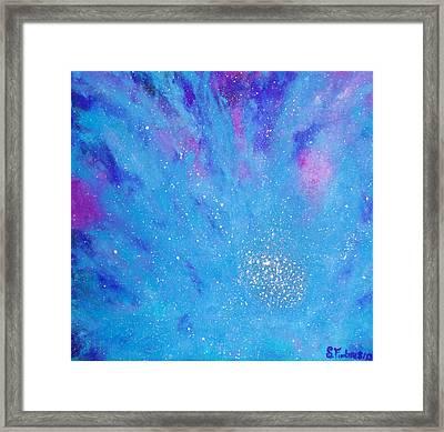 Nebula Flower Framed Print by Stephanie Fimbres