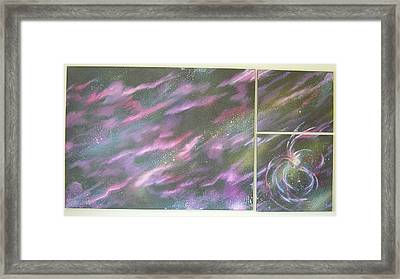 Nebula II Triptych Framed Print by Mark Golomb