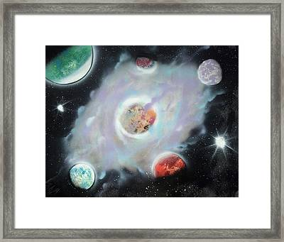 Nebula Framed Print by Troy Woolley