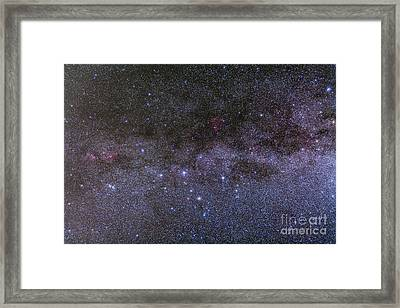 Nebulosity In Cassiopeia Showing Ngc Framed Print by Alan Dyer