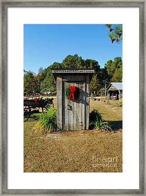 Old Out House Framed Print by Bob Sample