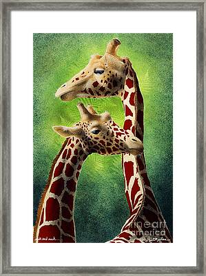 Neck And Neck... Framed Print