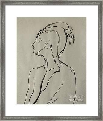 Neckline Framed Print by Peter Piatt