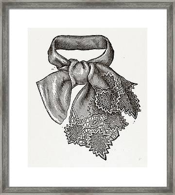 Necktie, 19th Century Fashion Framed Print